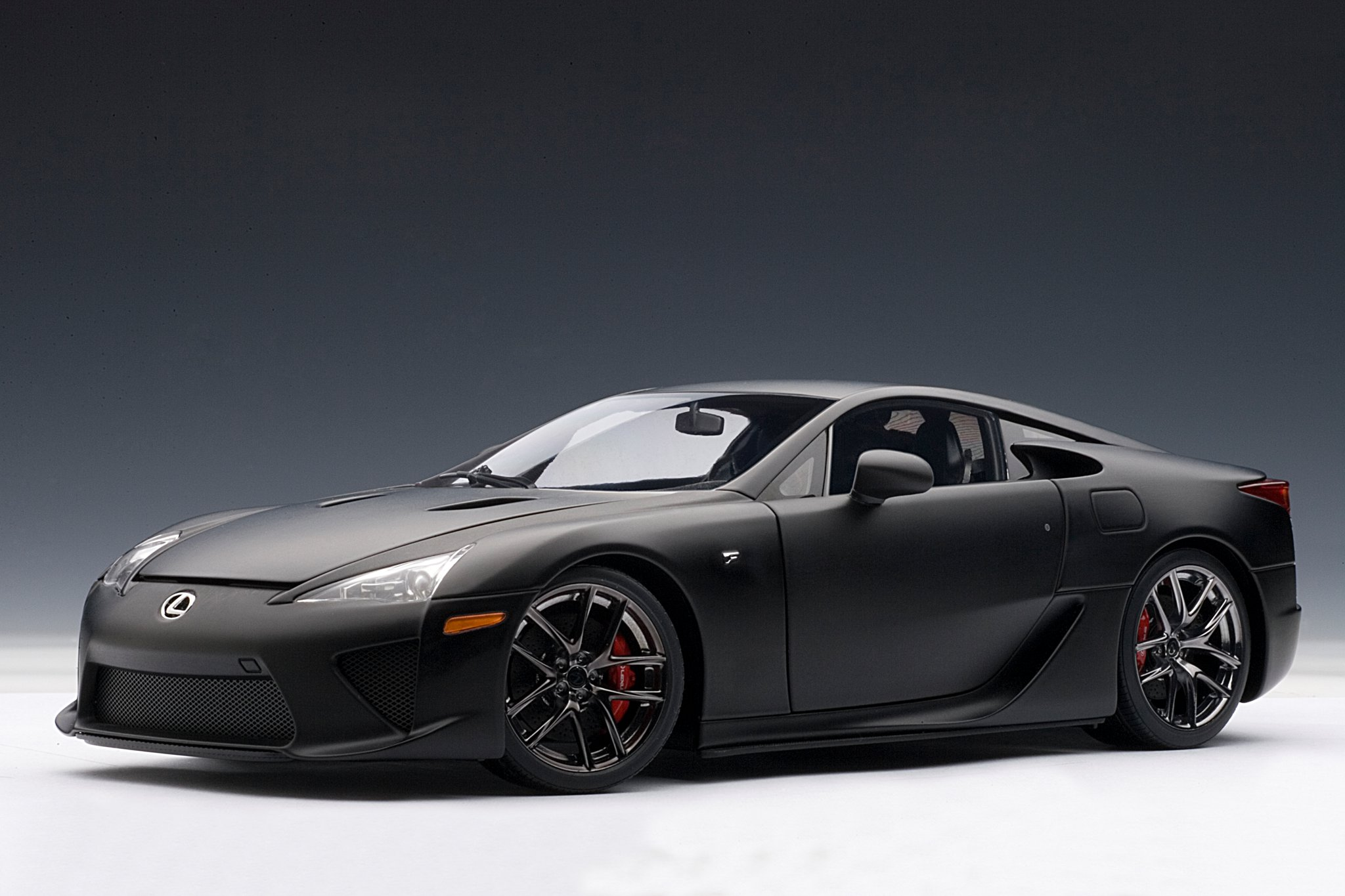 matte black lexus lfa die cast model by autoart lexus enthusiast. Black Bedroom Furniture Sets. Home Design Ideas