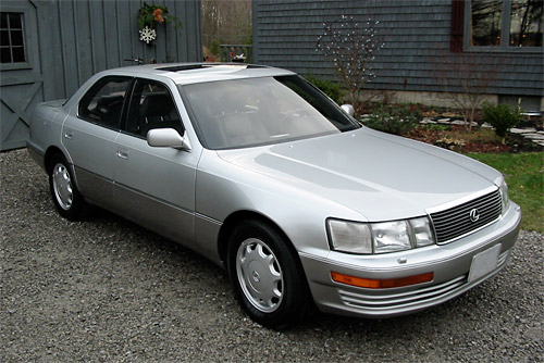 My Lexus LS400 in Alpine Silver