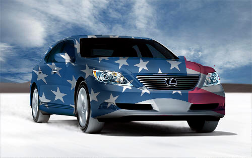 LS460 in the Red, White, & Blue