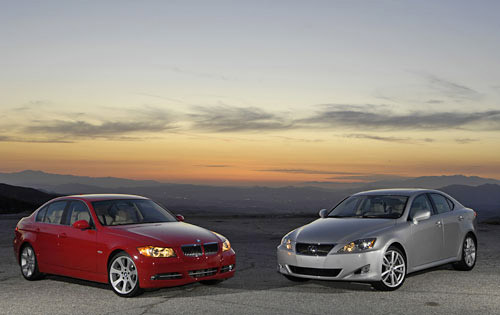 the 2007 bmw 335i vs the 2007 lexus is350. Black Bedroom Furniture Sets. Home Design Ideas