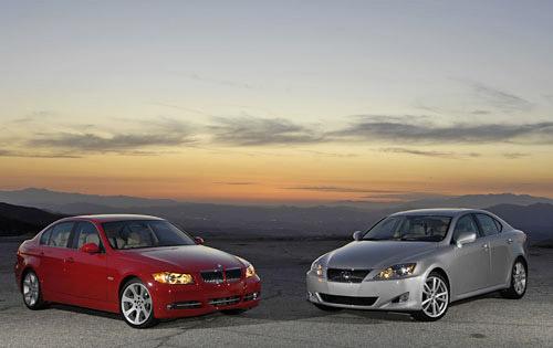 The 2007 BMW 335i vs. the 2007 Lexus IS350