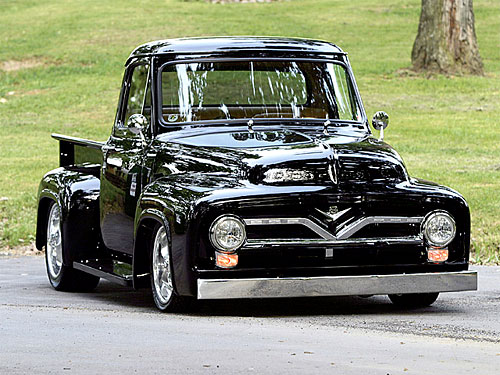 A 1955 Ford F-100 with the 1UZFE engine