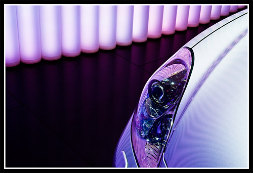 Lexus SC 430 Headlight Detail Shot
