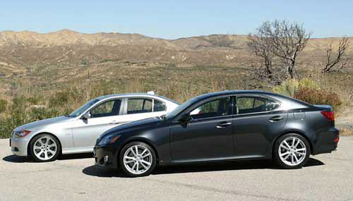 showdown between the 2006 BMW 330i and the 2006 Lexus IS 350.