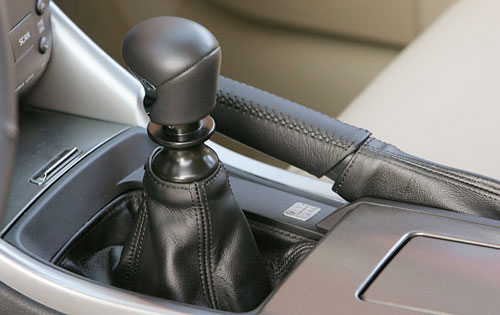 The Lexus IS 250 Gear Shifter