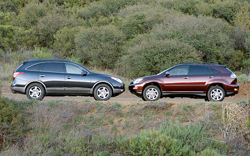 Comparison: 2008 Lexus RX 350 vs. 2007 Hyundai Veracruz Limited AWD