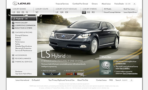 Lexus LS 600hL Website Launches