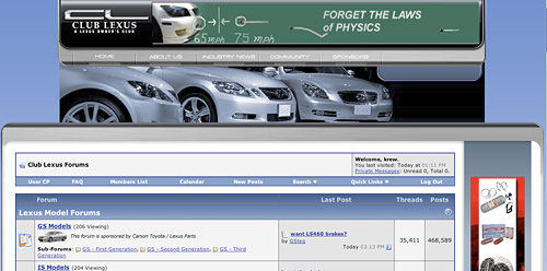 Club Lexus Screenshot