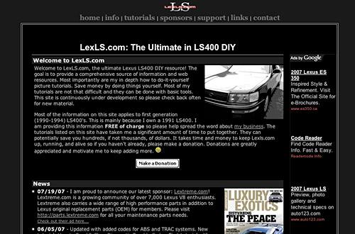 Screenshot of Lexls.com