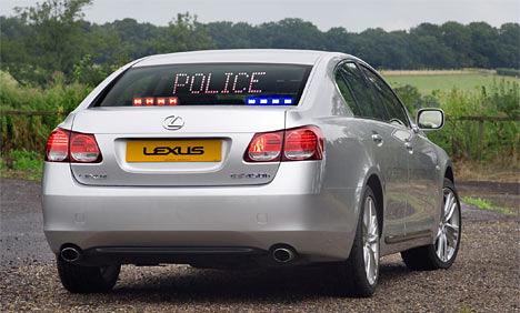 The Lexus GS 450h Police Car