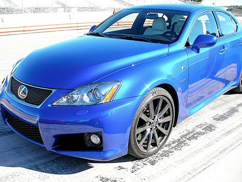 Blue Lexus IS-F