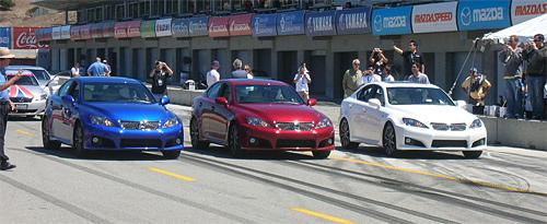 Three Lexus IS-Fs in a row