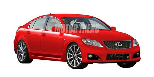 Lexus GS-F Rendering