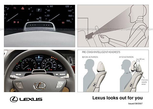 Lexus LS 600hL Driver Monitoring System