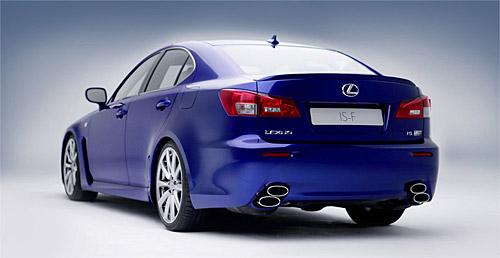 The Lexus IS-F Rear