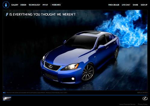 Lexus IS-F Website