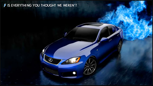 Lexus IS-F Marketing Slogan