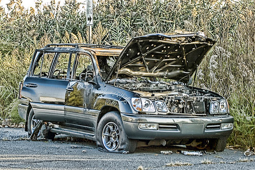 Destroyed Lexus LX 470