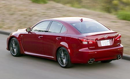 Car & Driver Reviews the 2008 Lexus IS-F