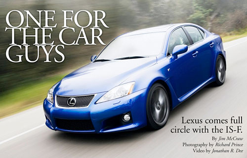 Winding Road Reviews the 2008 Lexus IS-F