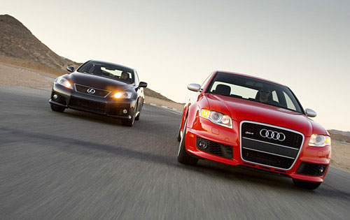 Lexus IS-F vs. Audi RS4