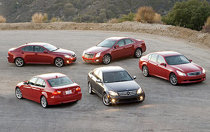 The 2007-2008 Sports Sedan Comparison Test by Edmunds