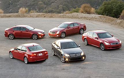 The 2007 2008 Sports Sedan Comparison Test By Edmunds