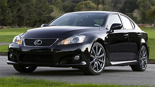 The Lexus IS-F in Black
