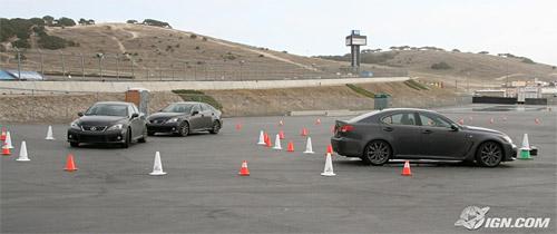 Three Lexus IS-Fs