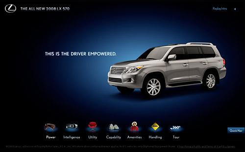Lexus LX 570 Mini-Site: Drive Empowered