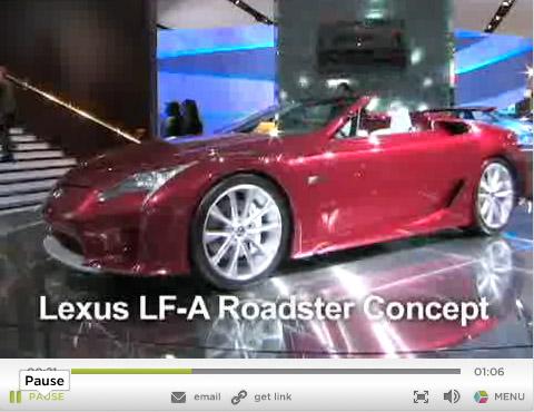 Lexus LF-A Roadster Concept Video