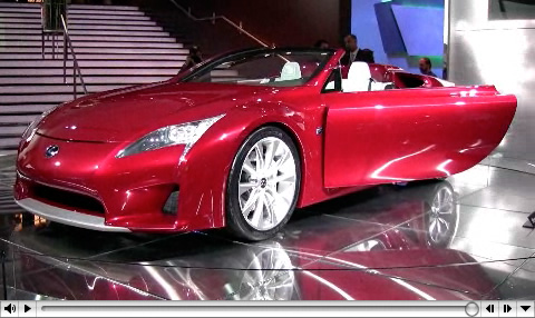 More Lexus LF-A Roadster Concept Video