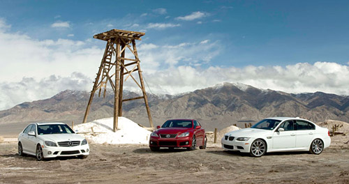 Lexus IS-F vs. BMW M3 vs. Mercedes C63