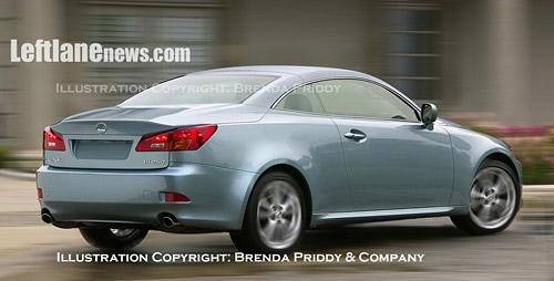 Lexus IS Convertible Illustration