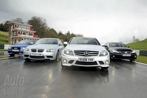 Lexus IS-F vs. BMW M3 vs. Mercedes C63 vs. Audi RS4