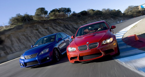 Lexus IS-F vs. BMW M3