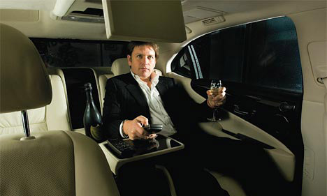 The Lexus LS 600hL back seat