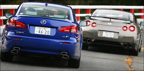 Lexus IS-F vs. Nissan GTR