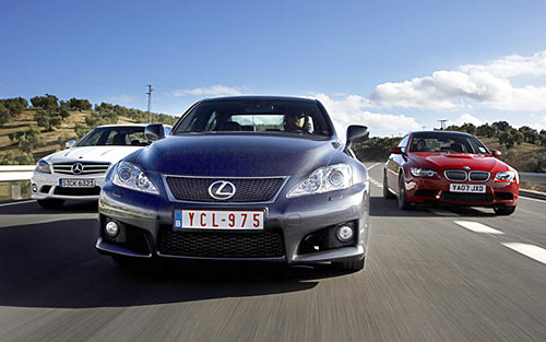 Lexus IS-F vs. BMW M3 vs. Mercedes C63 vs. Audi RS4
