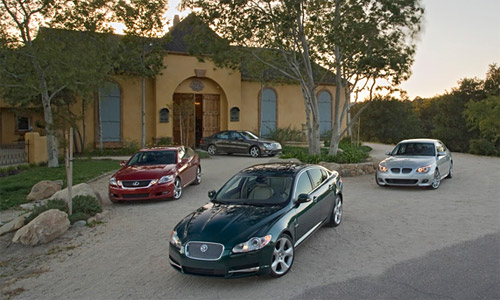Comparison: Jaguar XF vs. Lexus GS 460 vs. BMW 550i vs. Mercedes E550