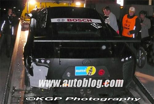 Lexus LF-A Racing Prototype Crash