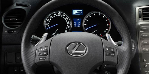 Lexus IS-F Paddle Shifters
