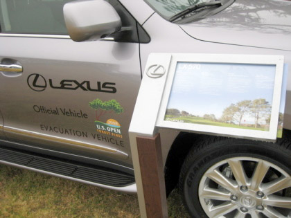 Lexus LX 570 at the US Open