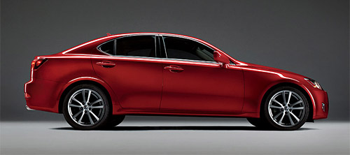 Red Lexus IS