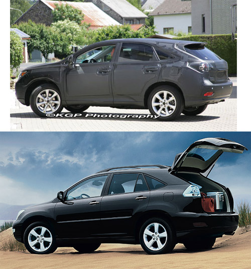 Lexus RX vs Prototype Side Profile