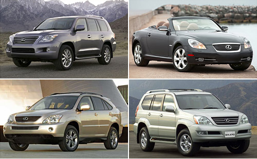 2009 Lexus Price Changes