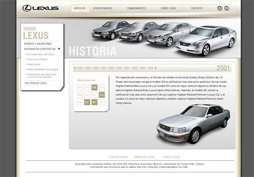 Lexus Chile Screenshot
