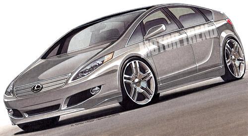 Lexus Prius Drawing