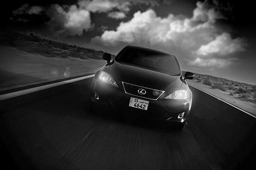Lexus IS-F in Black & White