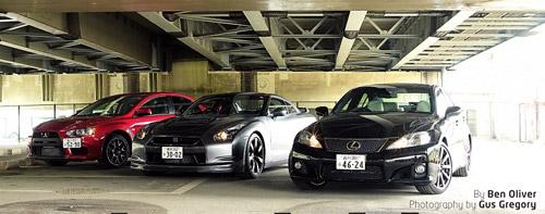 Lexus IS-F vs. Nissan GT-R